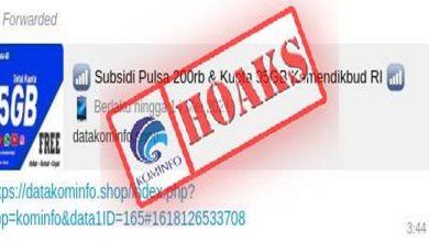 Photo of Subsidi Pulsa Rp 200 Ribu dan Kuota 95 GB Mengatasnamakan Kemendikbud