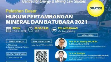 Photo of Pelatihan Hukum Pertambangan Mineral dan Batubara