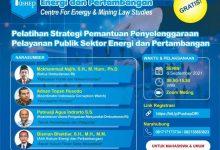 Photo of Daftar Gratis Pelatihan Strategi Pemantauan Penyelenggaraan Pelayanannya Publik Sektor Energi dan Pertambangan