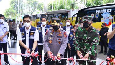 Photo of Kapolri Lepas Bus Vaksinasi Keliling Sasar Warga yang tak Terjangkau